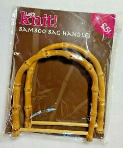7 Items ~ 4 pairs Handbag Handles different styles of Bamboo Wood+3 Metal Clasps