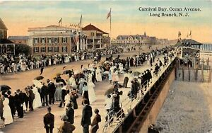 H59/ Long Branch New Jersey Postcard 1916 Carnival Day Ocean Avenue 2