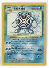 Pokemon Base set uncommon Poliwhirl 38/102 Near Mint condition