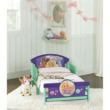 Barbie Purple and Green Toddler Bed.