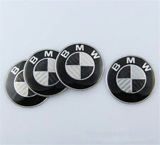 4Pcs 68mm Center Hub Cap Caps Carbon Fiber Wheel Cover Emblem for BMW 1 3 5 E X