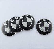 4Pcs 68mm Center Hub Cap Caps Carbon Fiber Wheel Cover Emblem for BMW 1 3 5 E X
