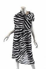 JUNYA WATANABE COMME DES GARÇONS Polyester Zebra Asymmetrical Dress- NWT - $570