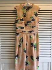 Moschino Floral Vestido Talla 8 Reino Unido