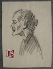 Beau Petit DESSIN Portrait Femme Annamite MARCEL BERNANOSE Indochine c.1910 #4