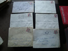 FRANCE - 6 enveloppes 1963 (cy60) french