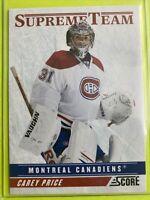 2011-12 Panini Score Supreme Team #20 Carey Price Montreal Canadiens