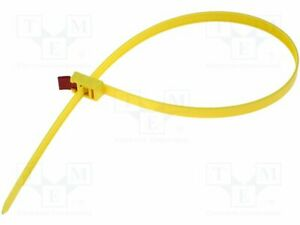 Cable Tie L:29 17/32in Yellow 888N Polyamide Solvable W: 0 1/2in UL94V-2