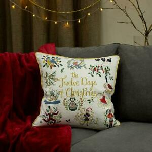 Furn 12 Days Of Christmas Cushion Cover 50 cm x 50 cm