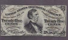 1864-67 25¢ Beautiful Specimen Fractional Currency!