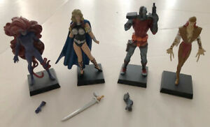 EAGLEMOSS VALERKIE, DEATHLOK, MEDUSA, LADY DEATHSTRIKE FIGURINES (DAMAGED)