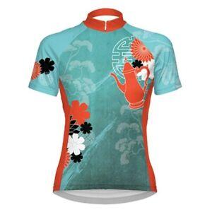PRIMAL WEAR Women's Tea Time Cycling Jersey Full Zip Short Sleeve, Size Medium