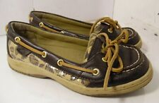SPERRY Top-Sider Angelfish leopard leather loafers boat Shoes Womens SZ 4.5