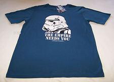 Star Wars Mens Blue Stormtrooper Printed Short Sleeve T Shirt Size XXL New