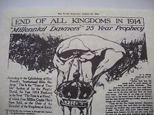 END OF ALL KINGDOMS 1914 True Prophecy of Global War 1914 Watchtower related