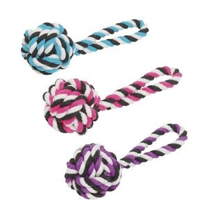 "HUGE KNOT ROPE TOYS FOR DOGS 12 Inch ""Large"" Top Knot Tug Dog Toy 5 inch Ball"