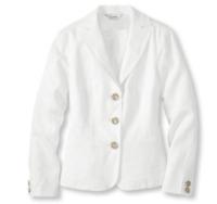 LL Bean Womens Size 14 Lakeshore Linen Jacket White Barn Coat Blazer NWT