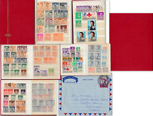 Pocket album of collectors duplicates of used & unused China & Hong Kong stamps.