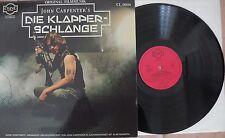 Soundtrack: John Carpenter - Die Klapperschlange RARE Orig. Soundtrack LP