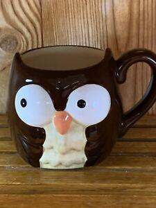 Earthenware owl mug