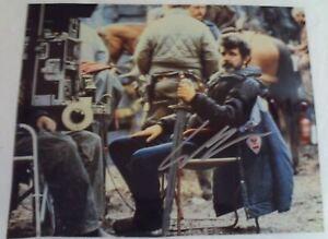 Young GEORGE LUCAS Autographed Movie Set Photograph Autograph FAMOUS DIRECTOR