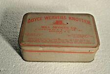 1936 Vintage Boyce Weaver Knotter Medical Device Case Tin