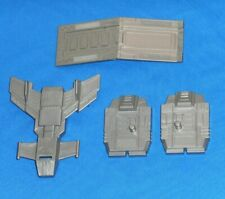 original G1 Transformers BRUTICUS PARTS LOT #4 r+l foot ramp chest shield