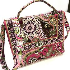 NEW Vera Bradley PINK PAISLEY Brocade Cotton Hand Bag Shoulder Purse Satchel