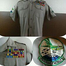 Vtg Vietnam Korea Finesilver Shirt Pilots Unit Programs Mobility Patches Ribbons