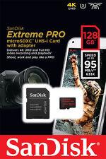 Genuine Sandisk Extreme PRO Micro SD Card 128GB U3 V30 95mbs UHS-I 4K