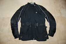 New Black Fabric Textile HEIN GERICKE Insulated Padded Motorcycle Jacket Woman 8