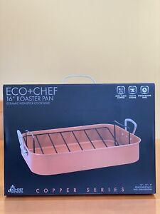 New in Box - Eco + Chef 16 inch Roasting Pan Copper Ceramic Coated Nonstick