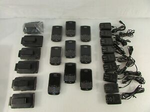 Lot of 9 Blackberry Smartphones 8 Bold 9650 and 1 Tour 9630 Plus Extras