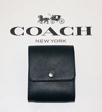 NWT Coach Men's Grooming Kit Leather F29279 Black $95