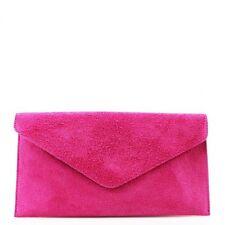 Damen Echt Leder Envelope Clutch Abend Tasche Damen Wildleder Crossbody Handtaschen
