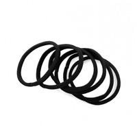 Lot de 10 Elastiques Chouchous Attaches pour Cheveux Coiffure Noir 30mm Rapide