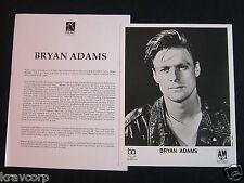 Bryan Adams—1990s Press Kit-Photo