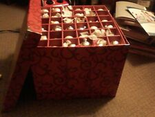 VINTAGE Decorative Box of 4 Layers of Christmas Ornaments, Garland Beads, more