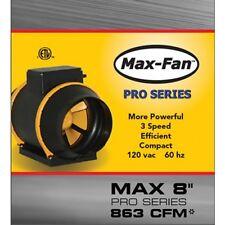 """Max Fan PRO 8"""" w/ EZ Mount Bracket (3 Speed, inline, Can Fan Group)"""