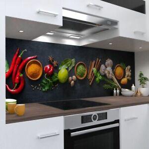 Gewürze Design Küchenrückwand selbstklebend Wandtattoo für Fliesenspiegel