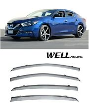 FOR 2016-2017 NISSAN MAXIMA 8th GEN WellVisors Side Window Visors Rain Guard
