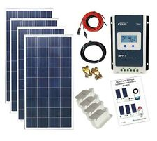 400w Poly Solar Panel Kit 24V MPPT controller battery charging cables bracket K4