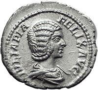 JULIA DOMNA 211AD Authentic Ancient Genuine Silver Roman Coin Pudicitia i61517