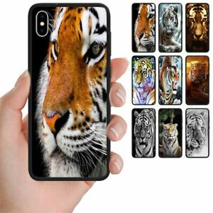 For Apple iPhone Series - Tiger Print Theme Mobile Phone Back Case Cover