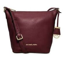 MICHAEL Michael Kors Bedford Medium Pebbled Leather Messenger Bag Merlot/Gold