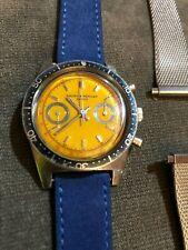 BAUME & MERCIER Vintage Pre-1964 Yellow Dial Skin Diver Chronograph Landeron 248