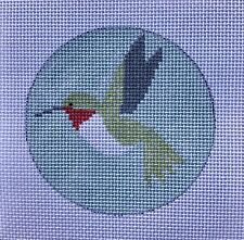 Hummingbird Ornament Hand Painted Needlepoint Canvas