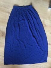 New Look Blue Maxi Skirt Summer Holiday Size 10