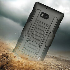 Rugged Armor Impact Holster Hybrid Case Hard Cover For Nokia Lumia Icon 929 930