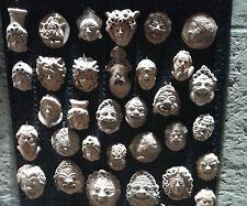 MASCHERA terracotta a scelta sicilia cm 5 lotto 64 pezzi artigianali
